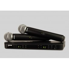 SHURE BLX288A/SM58 Dual Channel Handheld Wireless System