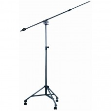 Quik Lok A/50 Height-adjustable tripod studio boom stand with casters
