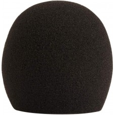 SHURE A58WS-BK Black Foam Windscreen for Ball Type Mics